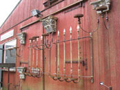 Antique wrought iron candle wall squonces