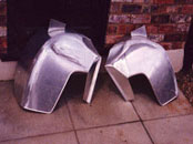 Austin Healey aluminium wheel arches