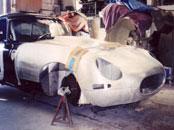 Jaguar E Type special lightweight aluminium bonnet