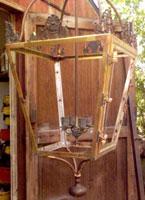 A reconstructed antique brass lantern