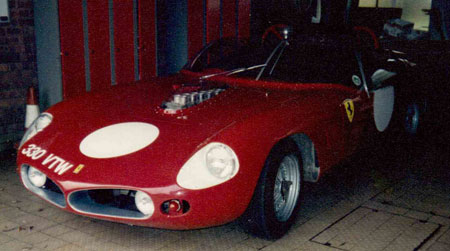 The nearside front end to Chris Rea's Ferrari 250 TRI61 LM, painted