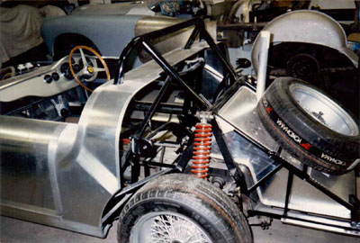 Chris Rea's Ferrari TRI61 LM, during construction, nearside rear